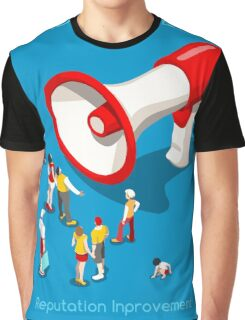 Social Promotion Concept Isometric Graphic T-Shirt