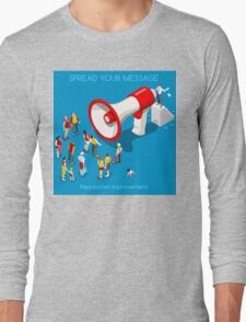 Social Promotion Concept Isometric Long Sleeve T-Shirt