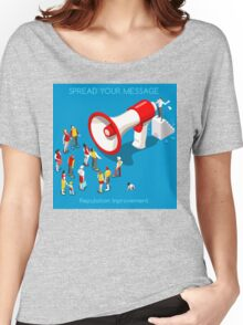 Social Promotion Concept Isometric Women's Relaxed Fit T-Shirt