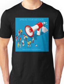 Social Promotion Concept Isometric Unisex T-Shirt