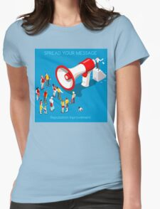 Social Promotion Concept Isometric Womens Fitted T-Shirt