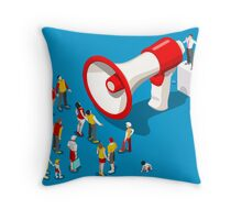 Social Promotion Concept Isometric Throw Pillow