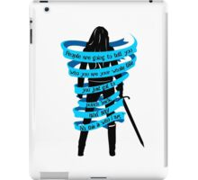 Dark Swan. Emma Swan. OUAT. Once Upon A Time iPad Case/Skin