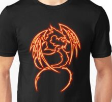 Dragon neon rouge 3 Unisex T-Shirt