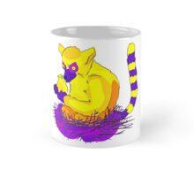 Lemur holding canary Mug