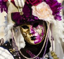 Editorial, 6 March 2016: Rosheim, France: Venetian Carnival Mask - A most beautiful masks photographed in open street Sticker
