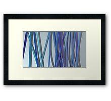 ribbon paper blue Framed Print