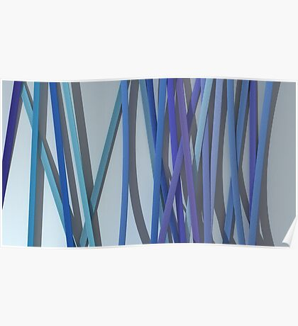 ribbon paper blue Poster