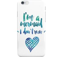 Modern watercolor funny mermaid typography iPhone Case/Skin