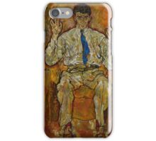 Egon Schiele - Portrait of Paris von Gutersloh 1887-1973 1918 iPhone Case/Skin