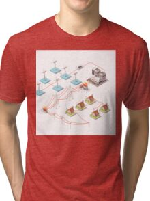 Energy Offshore Wind Farms Tri-blend T-Shirt