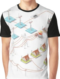 Energy Offshore Wind Farms Graphic T-Shirt