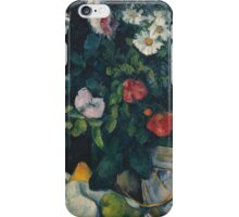 Paul Cezanne - Still Life with Flowers and Fruit 1888 - 1890 iPhone Case/Skin