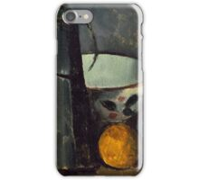 Paul Cezanne - Still Life with Carafe, Milk Can, Bowl, and Orange 1879-1880 iPhone Case/Skin