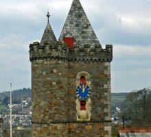 Clock Tower at Launceston Cornwall UK Sticker