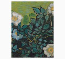 1890-Vincent van Gogh-Wild roses-24,5x33 One Piece - Short Sleeve