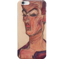 Egon Schiele - Self-Portrait, Grimacing 1910  Expressionism  Portrait iPhone Case/Skin