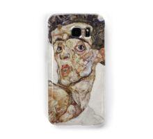 Egon Schiele - Self-Portrait with Raised Bare Shoulder 1912  Expressionism  Portrait Samsung Galaxy Case/Skin