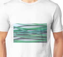 ribbon paper background green Unisex T-Shirt