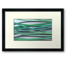 ribbon paper background green Framed Print