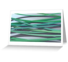 ribbon paper background green Greeting Card