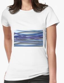 ribbon paper background blue Womens Fitted T-Shirt