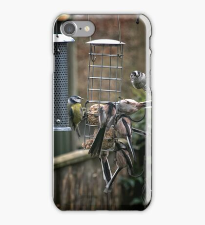 Long tailed tits and blue tit iPhone Case/Skin