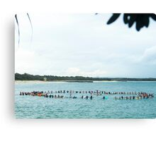 Noosa Festival of Surfing Paddle Out Canvas Print