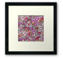 Stylish red purple watercolor floral illustration Framed Print