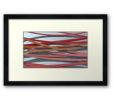 ribbon paper background red Framed Print