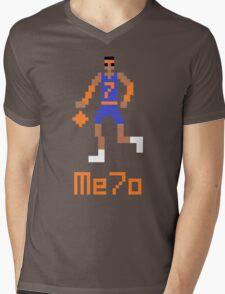Me7o Pixel Mens V-Neck T-Shirt