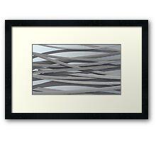 ribbon paper background white Framed Print