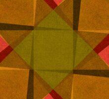 Vintage diamonds and squares pattern Sticker