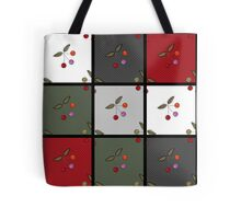 Patchwork seamless pattern texture background with cherries Tote Bag