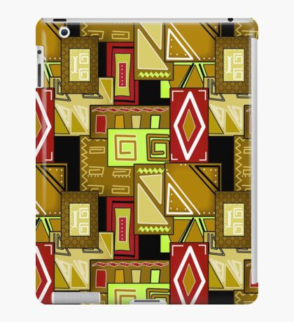 Patchwork seamless geometric folk pattern texture background iPad Case/Skin