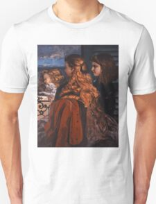 Gustave Courbet - Three Young Englishwomen by a Window 1865 , Girl with Red Hair Unisex T-Shirt
