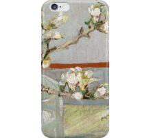 Vincent Van Gogh - Sprig of flowering almond in a glass, March 1888 - 1888 iPhone Case/Skin
