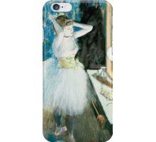 Edgar Degas - Dancer in Her Dressing Room ( 1879) Impressionism  ballerina dancer iPhone Case/Skin