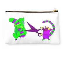 Crazy lemur with scissors Studio Pouch