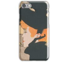 Henri de Toulouse-Lautrec  - Divan Japonais (1892 - 1893)Woman Portrait Fashion iPhone Case/Skin