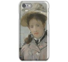 Berthe Morisot - On the Terrace 1874 Woman Portrait  iPhone Case/Skin