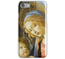 Botticelli  - The Virgin and Child The Madonna of the Book 1480 Woman Portrait  iPhone Case/Skin
