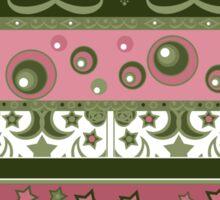 Seamless pattern circles ornamental geometric elements background Sticker
