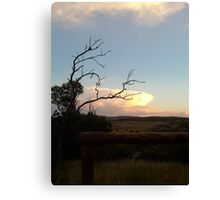 African sunset - beauty in nature Canvas Print