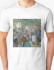 Camille Pissarro - Poultry Market at Gisors 1885 French Impressionism Landscape Unisex T-Shirt