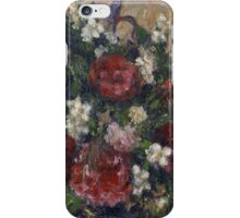 Camille Pissarro - Still life with peonies and mock orange 1872 - 1877 French Impressionism Landscape iPhone Case/Skin