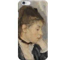 Berthe Morisot - The Cradle 1872 Woman Portrait  iPhone Case/Skin