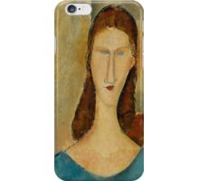 Amedeo Modigliani - Portrait of Jeanne Hebuterne 1919 Woman Portrait Italian Fashion  iPhone Case/Skin
