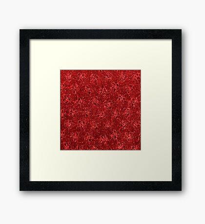 Vintage Floral Ribbon Red Framed Print