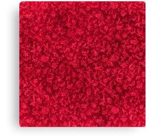 Vintage Floral Ruby Flame Red Canvas Print
